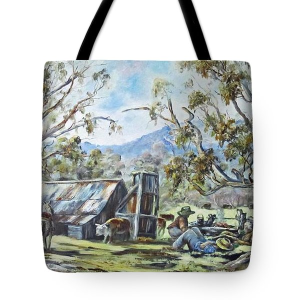 Wallace Hut, Australia's Alpine National Park. Tote Bag