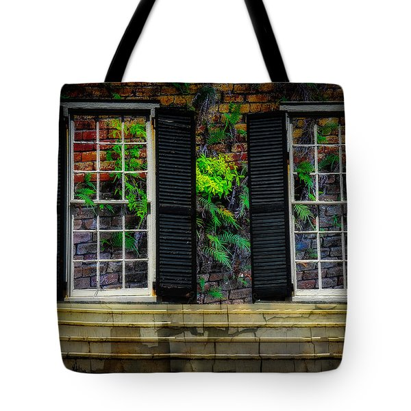 Tote Bag featuring the photograph Walled Up Windows by Harry Spitz