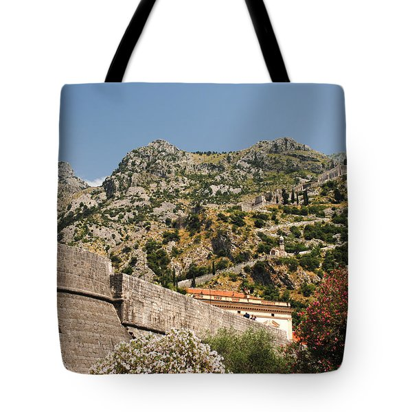 Walls Of Kotor Tote Bag
