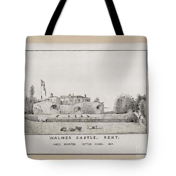 Walmer Castle Kent Tote Bag