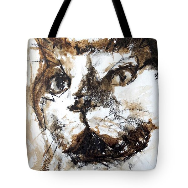 Walnut And Charcoal Tote Bag