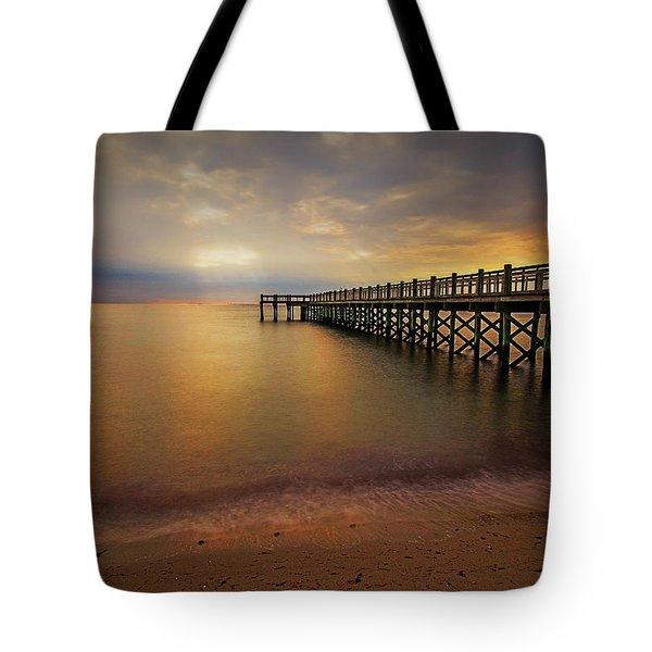 Walnut Beach Pier Tote Bag