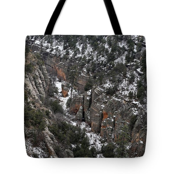 Walnut Canyon In Flagstaff In Winter 4 Tote Bag