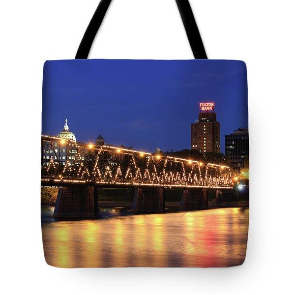 Walnut Street Bridge Tote Bag by Shelley Neff