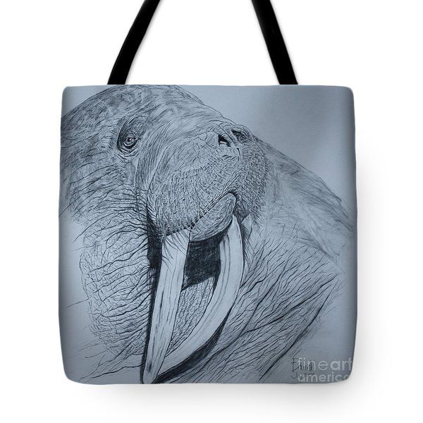Walrus Tote Bag by David Joyner