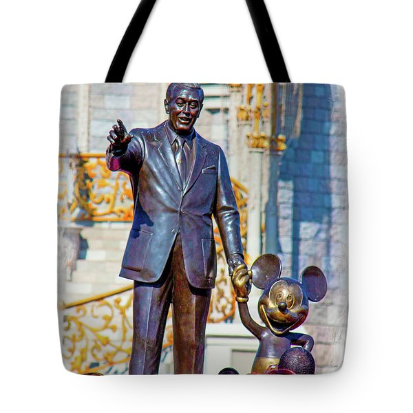 Tote Bag featuring the photograph Walt And Mickey by Mark Andrew Thomas