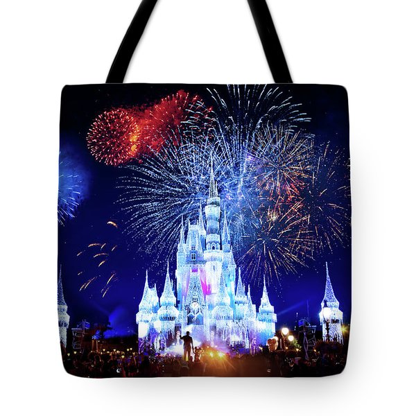 Walt Disney World Fireworks  Tote Bag by Mark Andrew Thomas