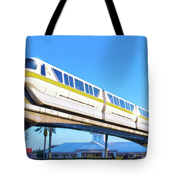 Tote Bag featuring the photograph Walt Disney World Monorail by Mark Andrew Thomas