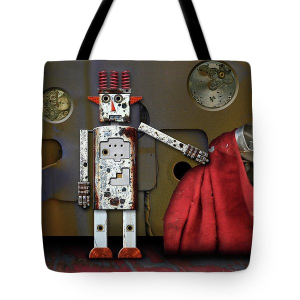 Walter Has A Surprise Tote Bag by Joan Ladendorf