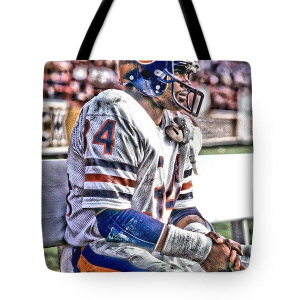Walter Payton Chicago Bears Art 2 Tote Bag