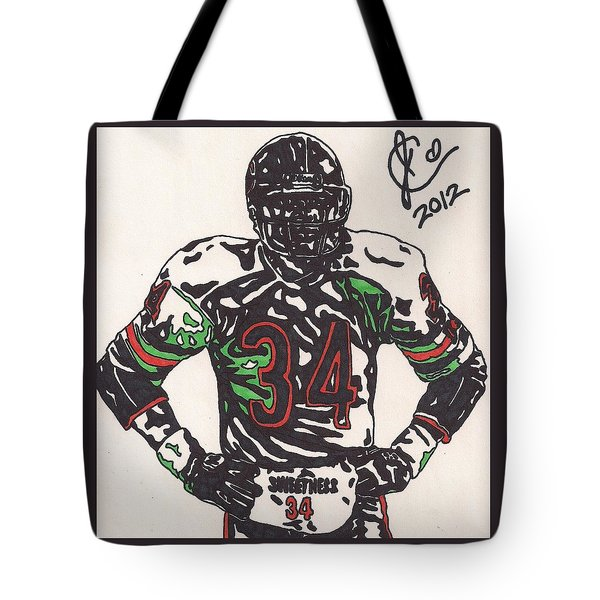 Walter Payton Tote Bag by Jeremiah Colley