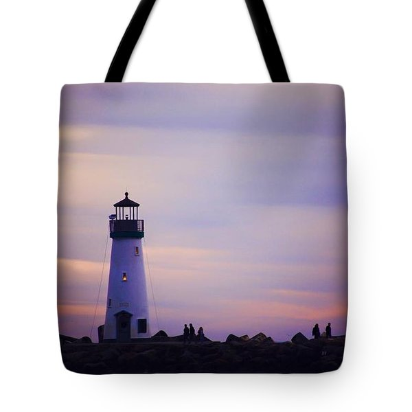 Tote Bag featuring the photograph Walton Lighthouse by Lora Lee Chapman