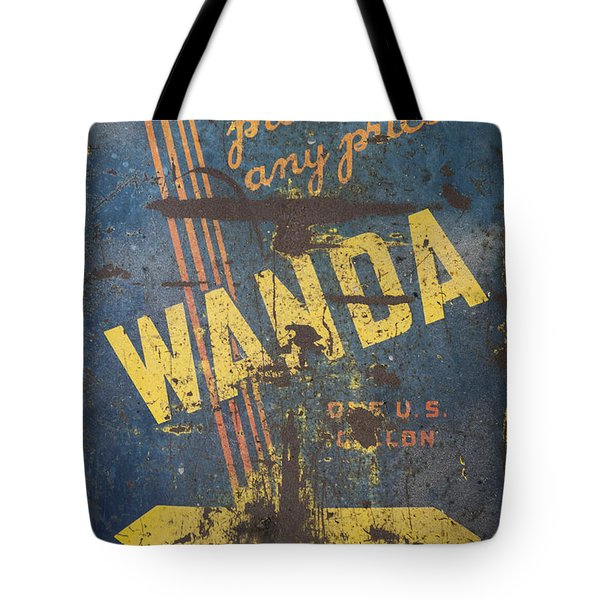 Wanda Motor Oil Vintage Sign Tote Bag