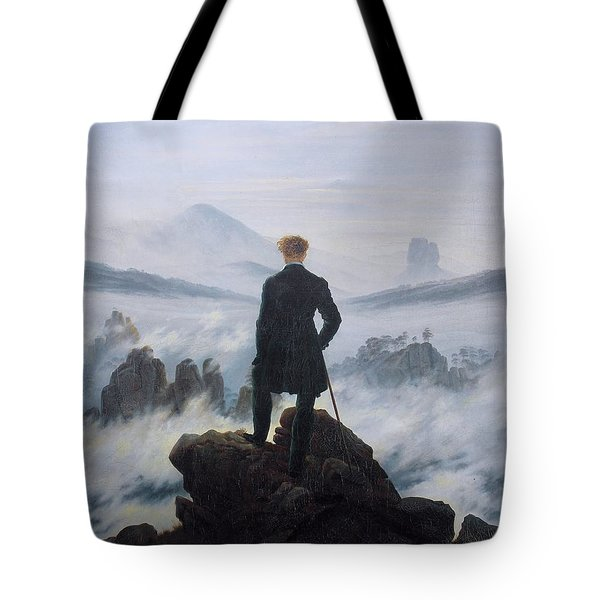 Wanderer Above The Sea Of Fog Tote Bag
