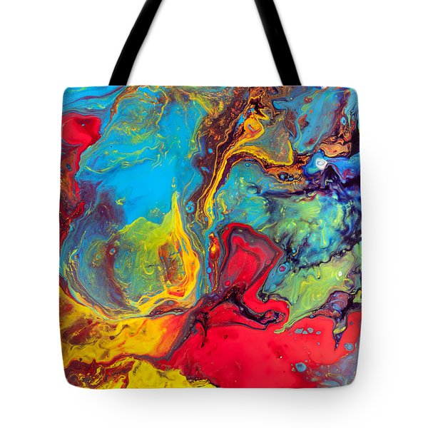 Wanderer - Abstract Colorful Mixed Media Painting Tote Bag by Modern Art Prints