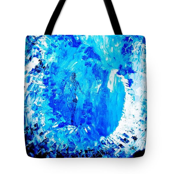 Tote Bag featuring the painting Wandering Aimlessly by Piety Dsilva