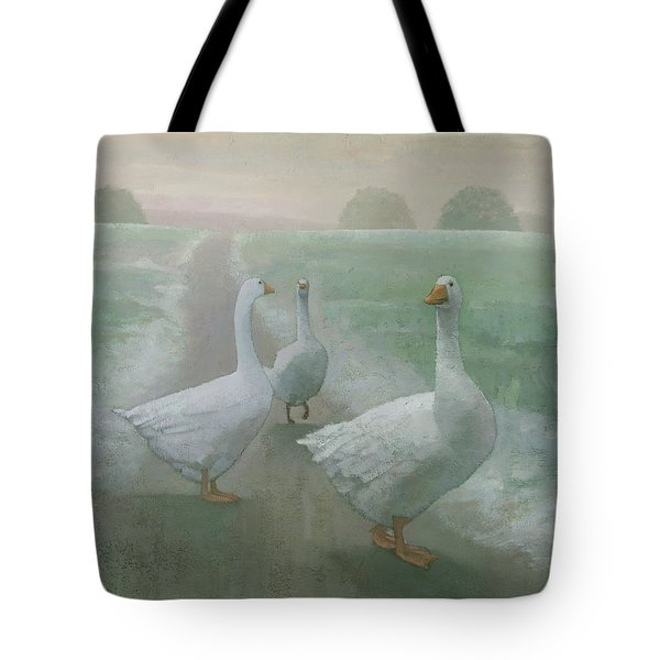 Wandering Geese Tote Bag by Steve Mitchell
