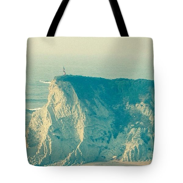 Wandering On The Cliffs Around Sopelano Tote Bag