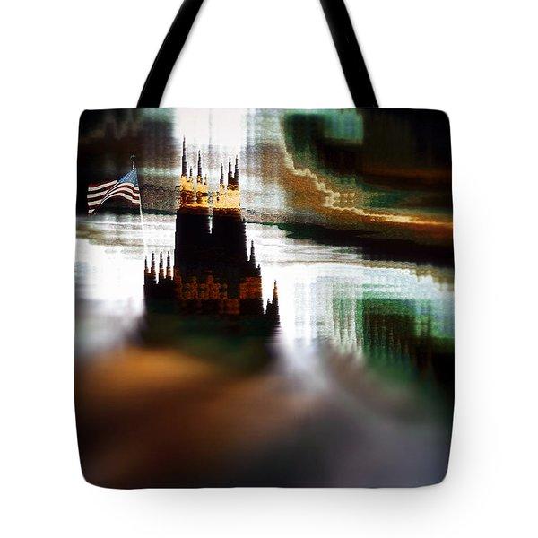 Tote Bag featuring the painting Wanderlust by Gerlinde Keating - Galleria GK Keating Associates Inc