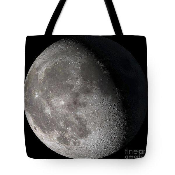 Waning Gibbous Moon Tote Bag by Stocktrek Images