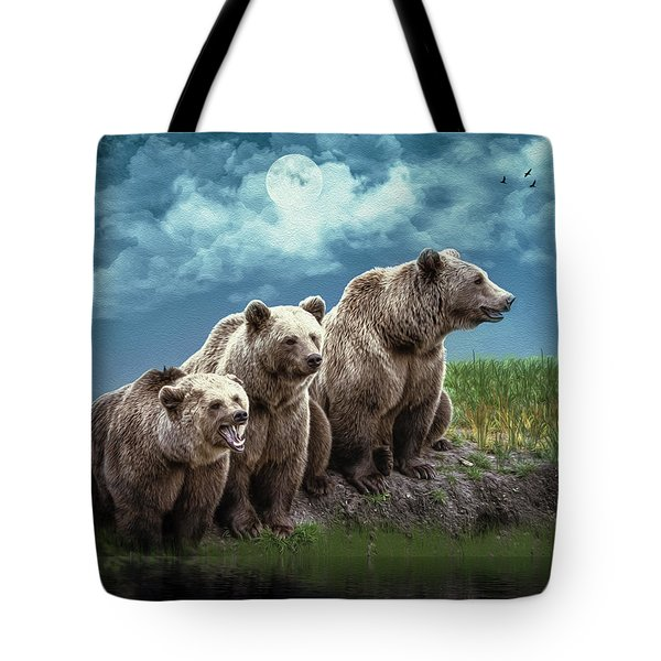 Wanna Go For A Moonlight Swim Tote Bag by Diane Schuster