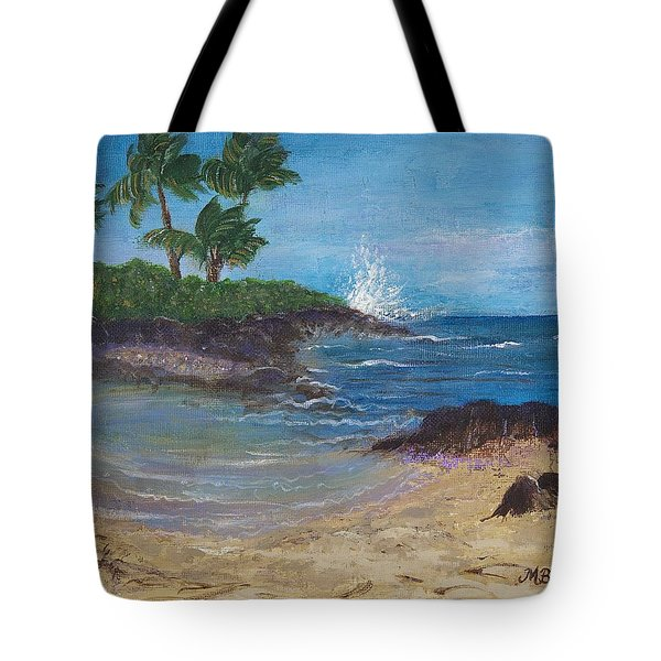 Tote Bag featuring the painting Wanna Go by Margaret Bobb