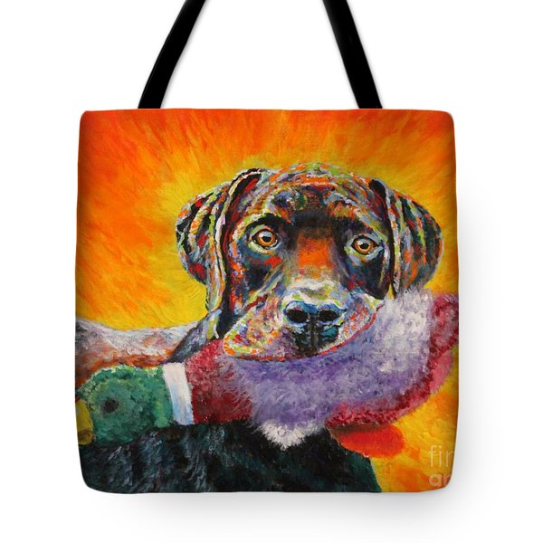 Wannabe Retriever Great Dane Tote Bag
