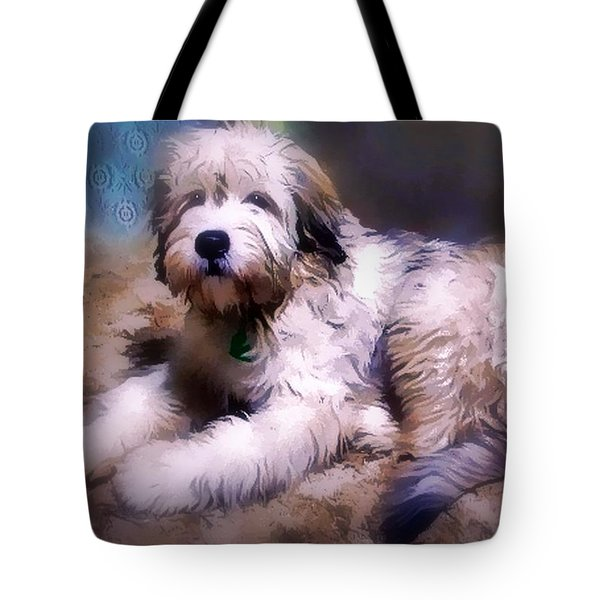 Tote Bag featuring the digital art Want A Best Friend by Kathy Tarochione