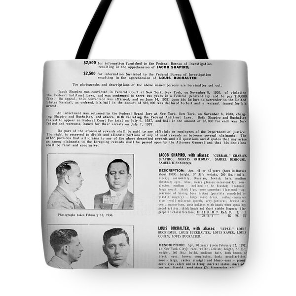 Wanted Poster, 1937 Tote Bag by Granger