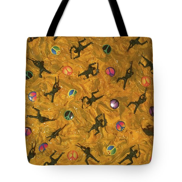 Tote Bag featuring the painting War And Peace by Thomas Blood