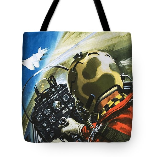 War In The Air Tote Bag by Wilf Hardy