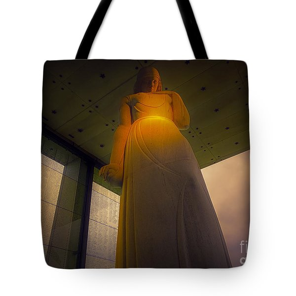Tote Bag featuring the photograph War Memorial Located In Richmond Virginia by Melissa Messick