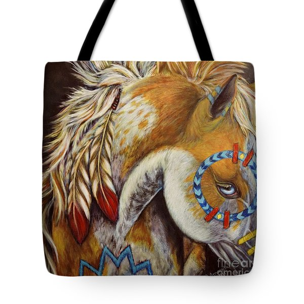 War Pony #4 Tote Bag by Amanda Hukill
