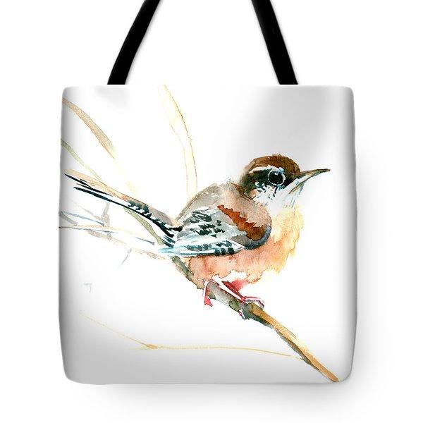 Warbler Songbird Art  Tote Bag