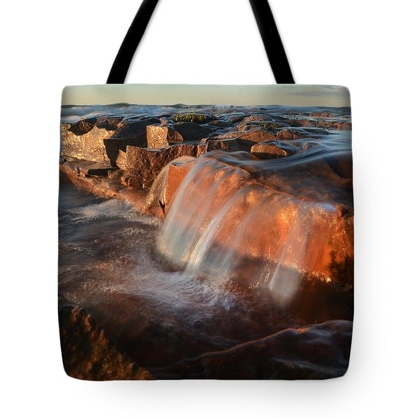 Wards Beach Waterfall-1 Tote Bag