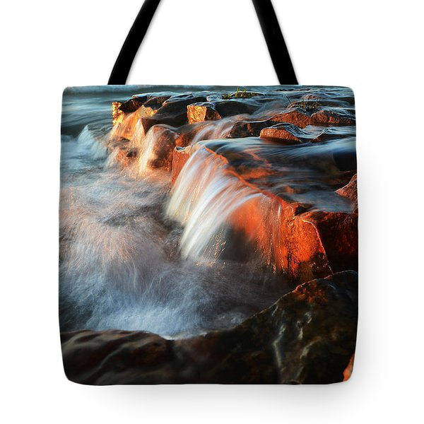 Wards Beach Waterfall-2 Tote Bag