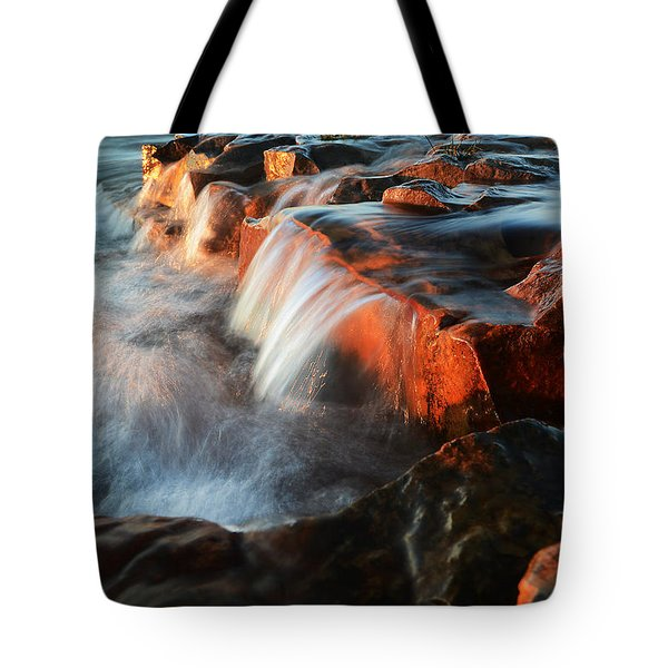Wards Beach Waterfall-3 Tote Bag