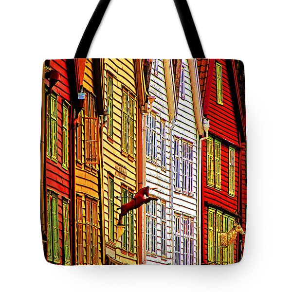 Warehouse Facades Tote Bag
