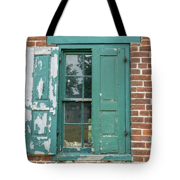 Warehouse Window With Shutter Tote Bag