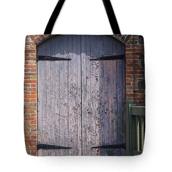 Warehouse Wooden Door Tote Bag by Thomas Marchessault