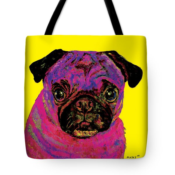 Warhol Pug Yellow Tote Bag