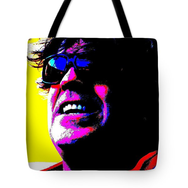 Tote Bag featuring the photograph Warhol Robbie by Jesse Ciazza