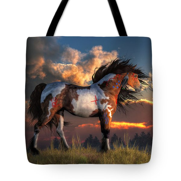 Warhorse Tote Bag by Daniel Eskridge