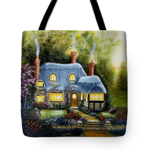 Warm And Cozy Cottage Tote Bag