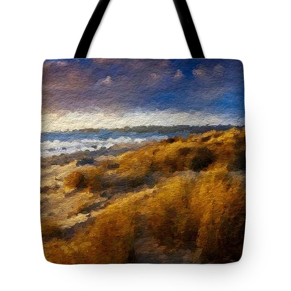 Warm Beach Day Abstract Tote Bag