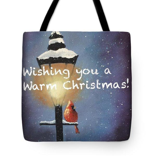 Warm Christmas Tote Bag by Sharon Mick