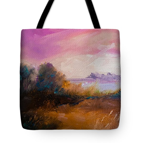 Warm Colorful Landscape Tote Bag