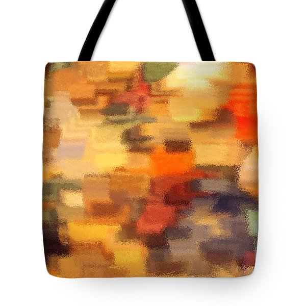 Warm Colors Under Glass - Abstract Art Tote Bag by Carol Groenen