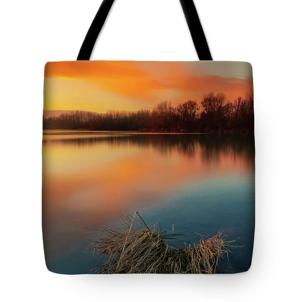 Tote Bag featuring the photograph Warm Evening by Davor Zerjav