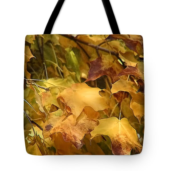 Warm Fall Leaves Tote Bag